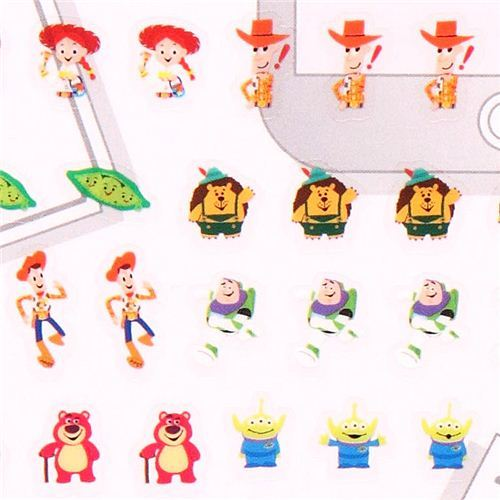 Disney Pixar Toy Story Woody Buzz calendar stickers Japan