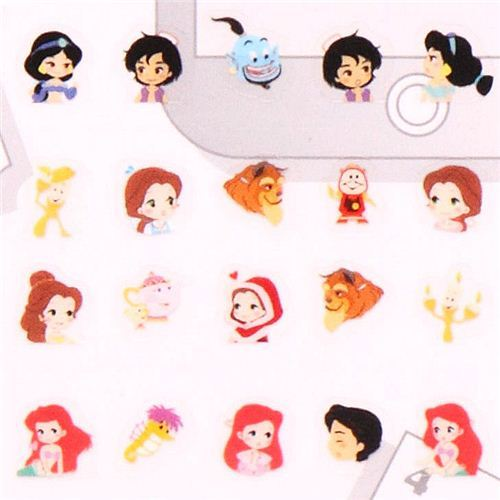 Disney princesses Ariel Alice calendar stickers Japan