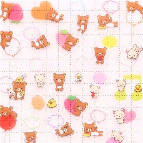 San-X Rilakkuma bears heart speech bubble calendar stickers