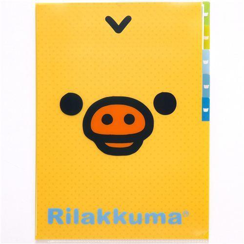 Rilakkuma 5-pocket A4 plastic file folder with chick