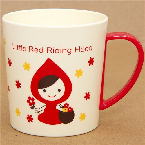 cute Little Red Riding Hood plastic cup Otogicco Japan