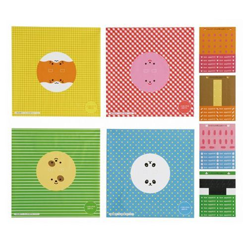 panda rabbit hamster bento box rice balls wrapping papers