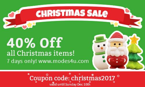 FINAL CHRISTMAS SALE! Get 40% OFF Christmas items right now!