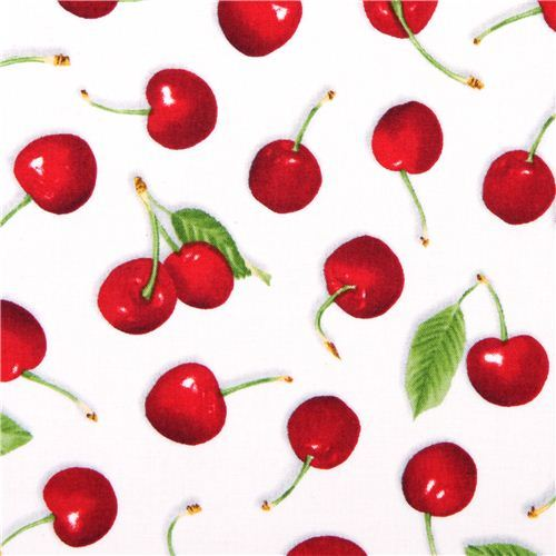 white cherry fabric Fresh Picked Quilting Treasures