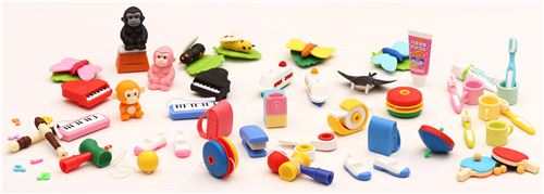 These fun Iwako erasers are new on modes4u.com