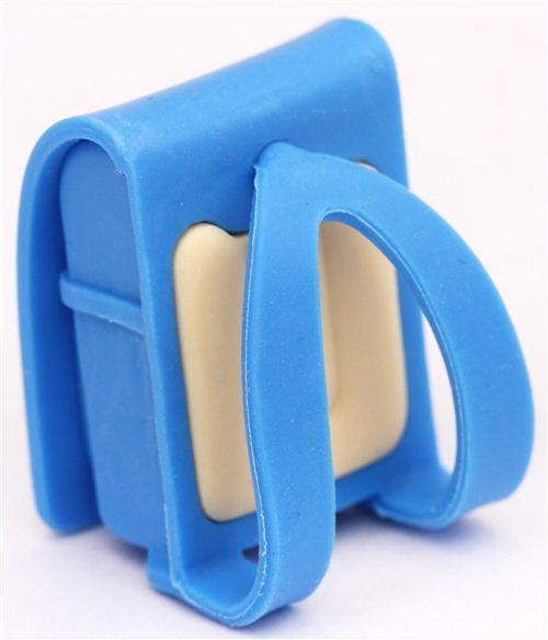 blue school bag backpack satchel school supplies eraser by Iwako from Japan