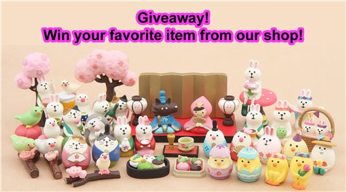 You can win your favorite item from our shop! Join our giveaway!
