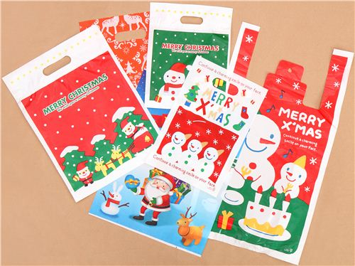 All your orders are wrapped in these kawaii Christmas bags