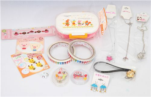 bento box, iron-ons, deco tape, Re-Ment and jewelry