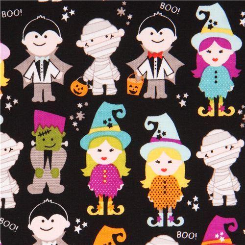 black Riley Blake 'Halloween Parade' fabric Halloween Magic