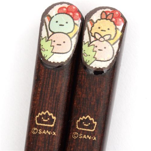 dark brown Sumikkogurashi shy animals Bento Chopsticks