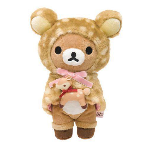 deer Rilakkuma brown bear plush toy by San-X