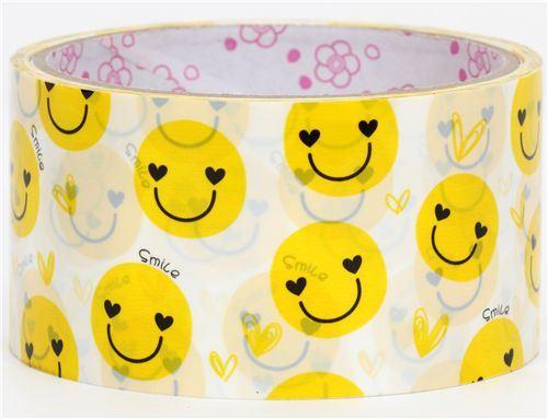 cute big yellow smiley Deco Tape kawaii