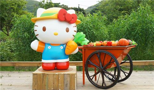 The centrepiece of the cute Hello Kitty Organic Farm in Hong Kong