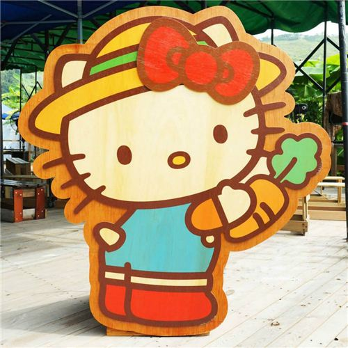 cute Hello Kitty decoration at various spots in the farm
