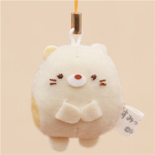 mini Sumikkogurashi cat cute plush charm by San-X