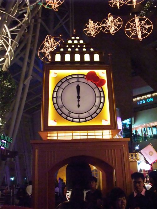 Sanrio's Big Ben with Hello Kitty ribbon