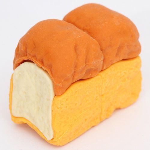 sandwich bread eraser from Japan by Iwako