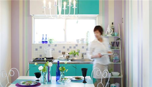 Your kitchen could look this colourful with just a couple of stripes of mt Casa Wahi Tape