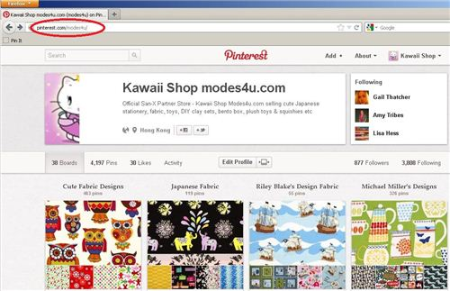 2. Follow the modes4u pinboards