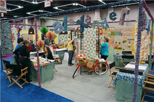 The cute Alexander Henry booth at the Spring Quilt Market