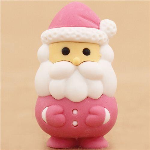pink Santa Claus Christmas eraser by Iwako from Japan