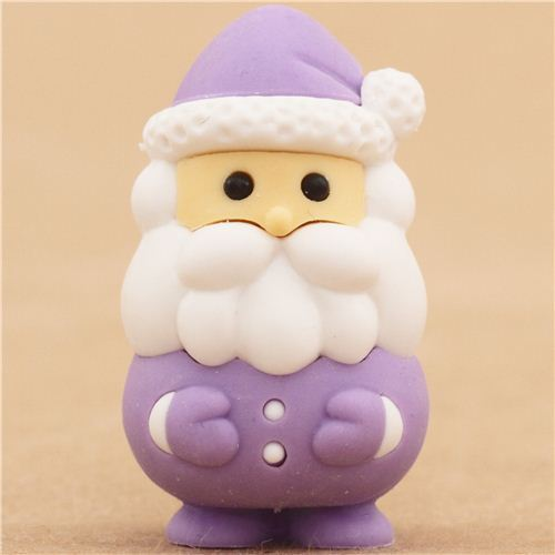 purple Santa Claus Christmas eraser by Iwako from Japan