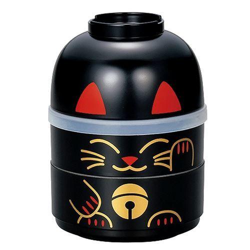 big stackable black cat Bento Box Japan