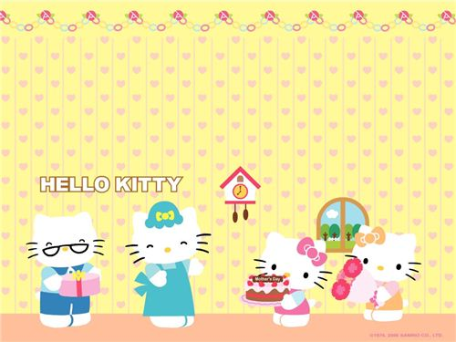 cute Hello Kitty Mother's Day wallpaper from kawaiiwallpapers.com
