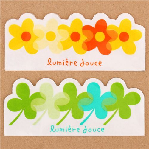 flower and clover Baran set divider sheets Bento Box Lunch Box