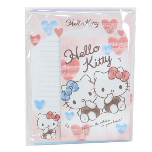 cute Hello Kitty bow heart Letter Paper Set from Japan