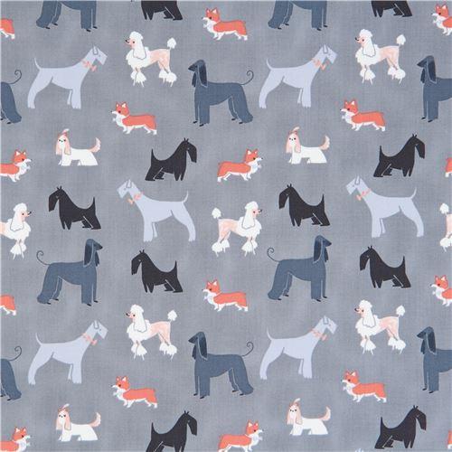 grey fabric cute funny dog animal by Dear Stella USA
