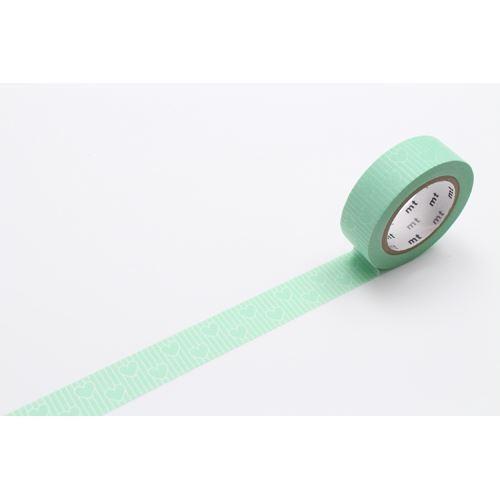 mt Washi Masking Tape deco tape green stripe heart