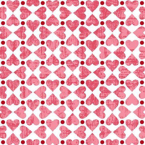 white pink mini heart fabric by StudioE 'Hugs & Kisses'