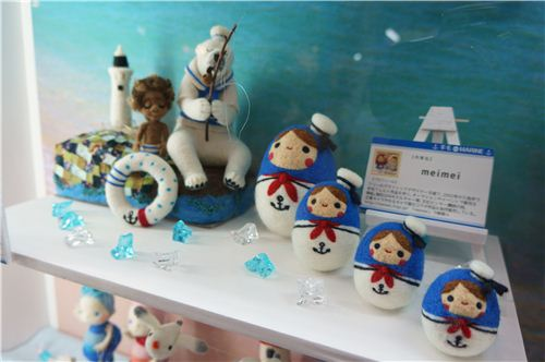 The cute little sailor matryoshkas made with felt are awesome