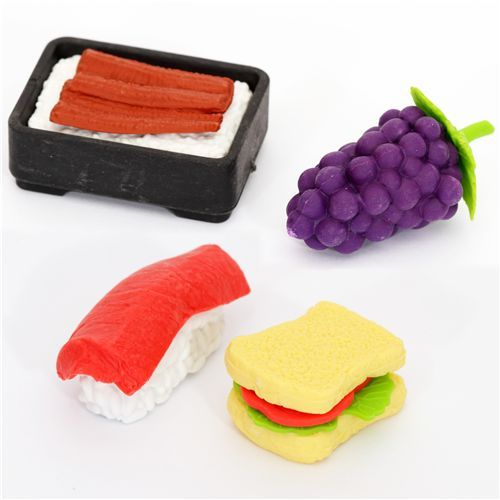 Iwako erasers food yellow box 4 pieces set