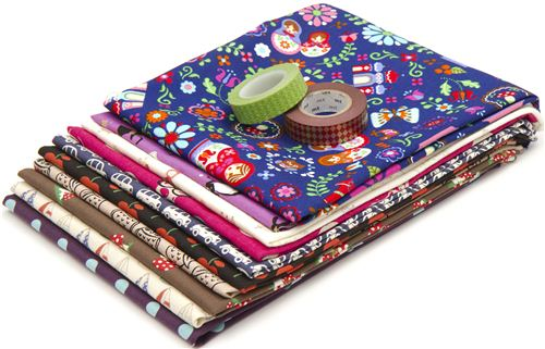 One winner gets 10 Japanese fabric fat quarters plus 2 Washi Tapes