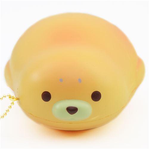 cute yellow-orange mochi seal animal scented squishy by Puni Maru