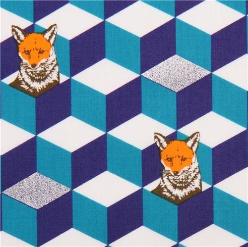 blue white diamond dice cotton sateen glitter laminate fabric