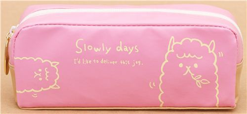 pink alpaca animal pencil case from Japan