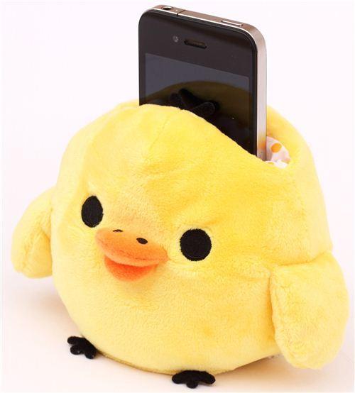 kawaii Rilakkuma plush cellphone holder yellow chick