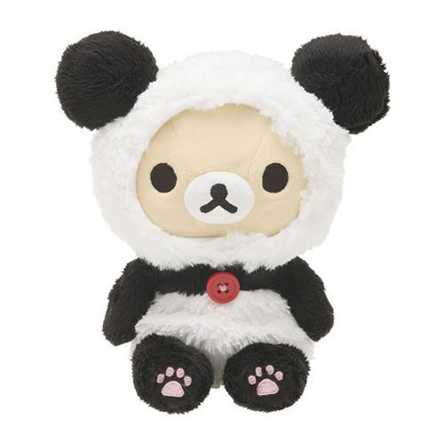 kawaii Rilakkuma white teddy bear as panda plush toy