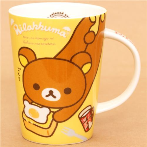 big yellow Rilakkuma Egg Kitchen cup San-X