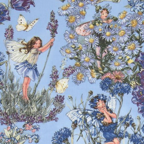 Michael Miller fabric Periwinkle Fairies blue fairy
