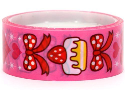 Cram Cream pink cupcake deco tape kawaii