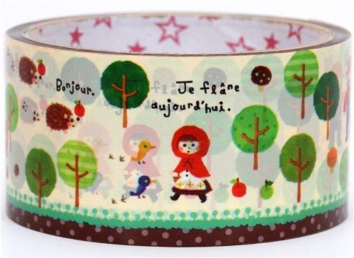 big cute Little Red Riding Hood Deco Tape fairy tale