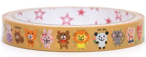 kawaii animals Deco Tape Japan cute Mind Wave