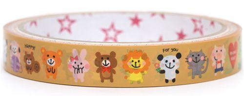 kawaii animals Deco Tape Japan cute Mind Wave