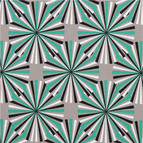 ray circle knit fabric emerald green Robert Kaufman