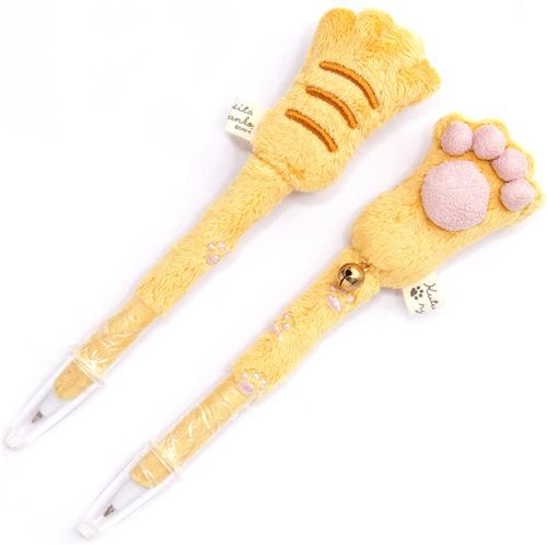 Kutusita Nyanko cat plush ballpoint pen cat paw